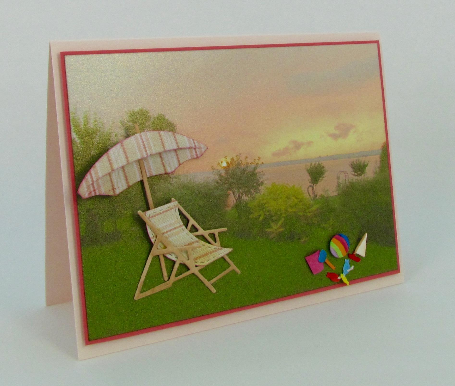 Frantic Stamper Precision Die Beach Umbrella And Chair