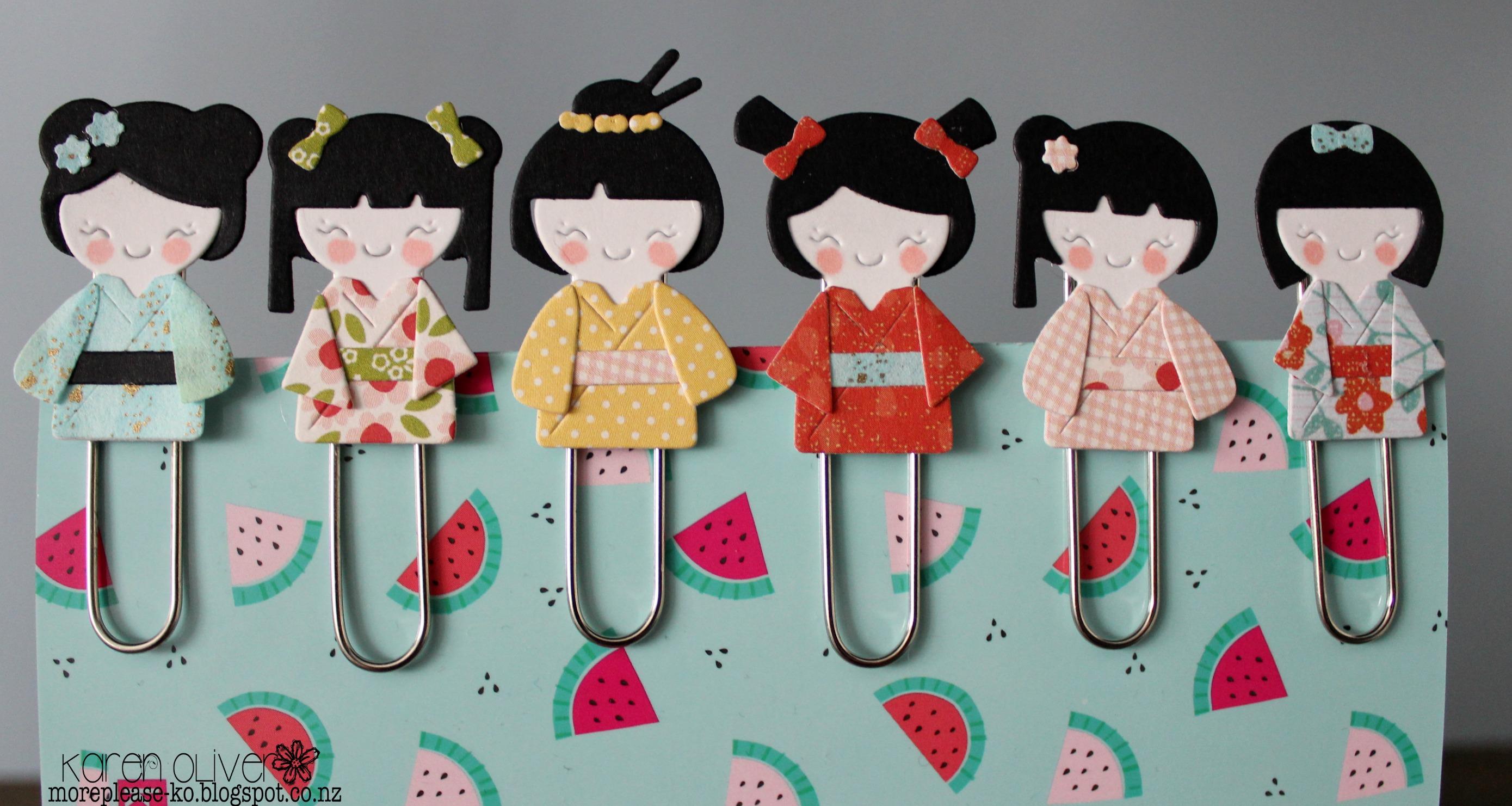 Frantic Stamper Precision Die Kokeshi Japanese Paper Doll