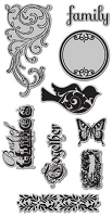 Hampton Art - 7 Gypsies - Best of Times Cling Mounted Rubber Stamps