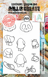 AALL & Create - Clear Stamp A7 size - Set #104 Quirks Mini
