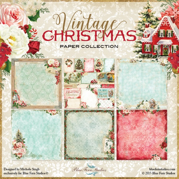 Blue Fern Studio - Vintage Christmas Collection (paper & chipboard)