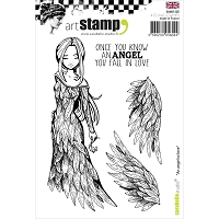 Carabelle Studio - Cling Stamp Set - An Angel To Love
