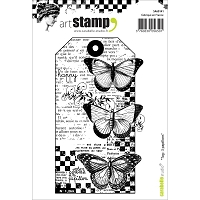 Carabelle Studio - Cling Stamp Set - Tag:  3 Papillions (3 Butterflies Tag)