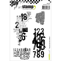 Carabelle Studio - Cling Stamp Set - Texture Avec des Chiffres (Texture with Numbers)
