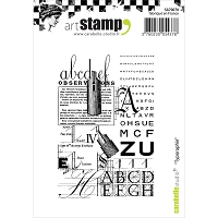 Carabelle Studio - Cling Stamp Set - Typography