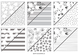Concord & 9th - 6x6 Paper Pad - Floral Fill-In Patterned Paper