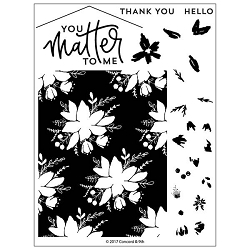 Concord & 9th - Clear Stamp - Blooms Fill-In Stamp Set