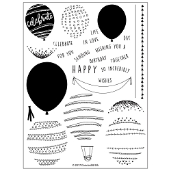 Concord & 9th - Clear Stamp - Happy Balloons Stamp Set