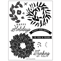Concord & 9th - Clear Stamp - Magnolia Wreath Stamp Set