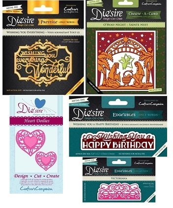 crafters companion stamps embossing folders and more