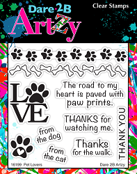 Dare 2B Artzy - Clear Stamp - Pet Lover