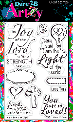 Dare 2B Artzy - Clear Stamp - Lord is My Light