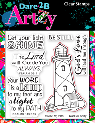 Dare 2B Artzy - Clear Stamp - My Path Lighthouse