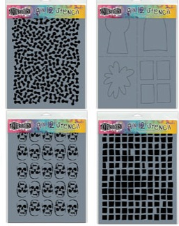 Dylusions stencils (8 new)