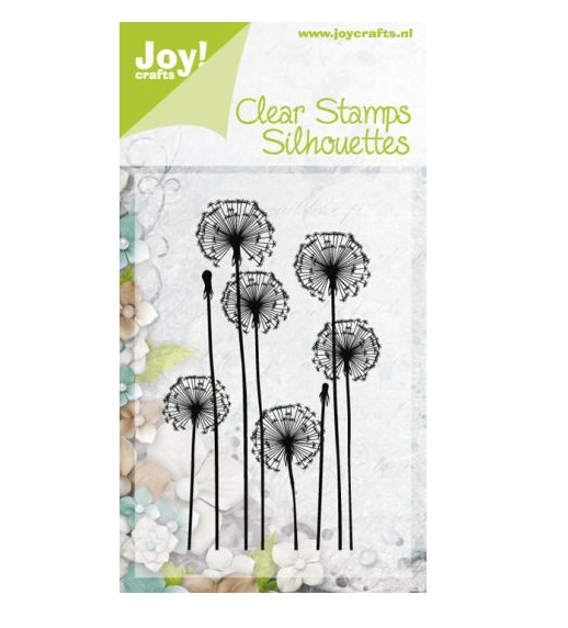 joy crafts noor clear stamp silhouette dandelion