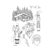 Katzelkraft - A5 Unmounted Rubber Stamp Sheet - Saint Nicolas (5.5