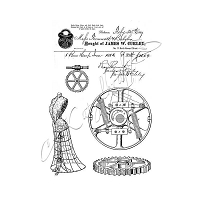Katzelkraft - A5 Unmounted Rubber Stamp Sheet - Steamkatz (5.5