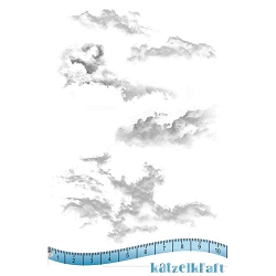 Katzelkraft - Unmounted Rubber Stamp - Nuages (Clouds) (3.75