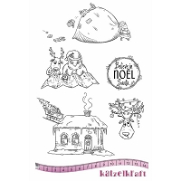 Katzelkraft - A5 Unmounted Rubber Stamp Sheet - Noel Believe in Santa (5.5