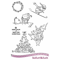 Katzelkraft - A5 Unmounted Rubber Stamp Sheet - Noel Keep Calm (5.5