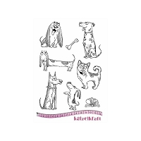 Katzelkraft - A5 Unmounted Rubber Stamp Sheet - Les Chiens (Dogs) (5.5