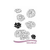 Katzelkraft - A5 Unmounted Rubber Stamp Sheet - Les Marguerittes (Daisies) (5.5
