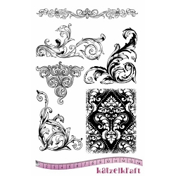 Katzelkraft - A5 Unmounted Rubber Stamp Sheet - Baroque (5.5