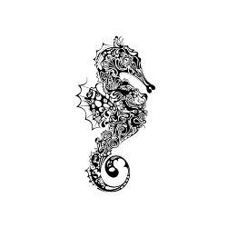 Katzelkraft - Solo Unmounted Rubber Stamp - Seahorse