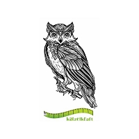Katzelkraft - Solo Unmounted Rubber Stamp - Chouette (Owl) Boho