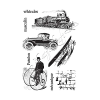 Katzelkraft - A5 Unmounted Rubber Stamp Sheet - Transportation (5.5