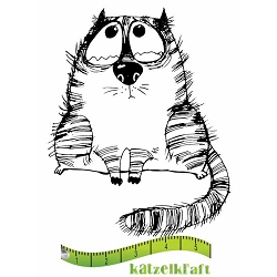 Katzelkraft - Solo Unmounted Rubber Stamp - Les Gros Chats (Fat Cats) Albert