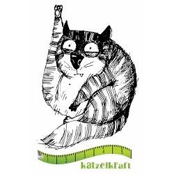 Katzelkraft - Solo Unmounted Rubber Stamp - Les Gros Chats (Fat Cats) Jasper