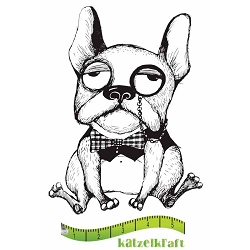 Katzelkraft - Solo Unmounted Rubber Stamp - Chien (Dog) Holmy