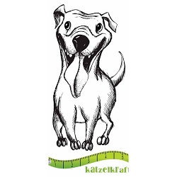 Katzelkraft - Solo Unmounted Rubber Stamp - Chien (Dog) Bonzy
