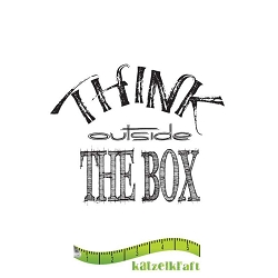 Katzelkraft - Solo Unmounted Rubber Stamp - Think Outside the Box