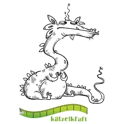 Katzelkraft - Solo Unmounted Rubber Stamp - Dragon