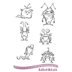 Katzelkraft - A5 Unmounted Rubber Stamp Sheet - Les Monstres des Carpates (Silly Monsters) (5.5