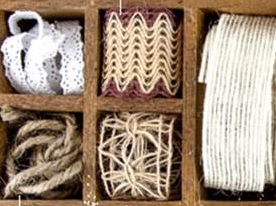 Prima - new wires, jutte twine, lace, burlap ribbon