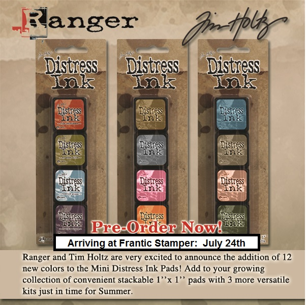 Ranger - 3 new Distress Mini Ink Pad kits (#7, #8 and #9)