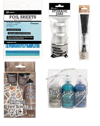 Ranger - new fun products (foil, stickles, Tim Holtz tools)