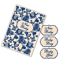 Tattered Lace - Interchangeable Embossing Folder Set - Baby