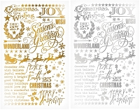Advantus - Tim Holtz Idea-ology - Gilded Holidays Remnant Rubs (Rub-Ons)