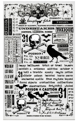 Advantus - Tim Holtz Idea-ology - Remnant Rub-Ons Halloween