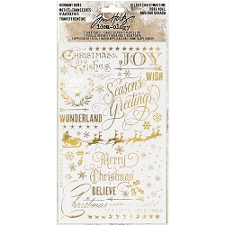 Advantus - Tim Holtz Idea-ology - Remnant Rubs Gilded Christmastime