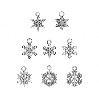 Advantus - Tim Holtz Idea-ology - Antique Nickel Snowflake Adornments