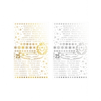 Advantus - Tim Holtz Idea-ology - Remnant Rubs Foil Rub-Ons:   Gilded Christmastime