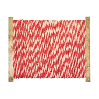 Advantus - Tim Holtz Idea-ology - Christmas Jute String Red/Cream