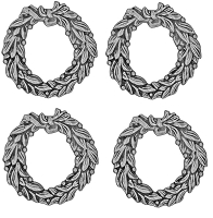 Advantus - Tim Holtz Idea-ology - Antique Nickel Wreaths Adornments