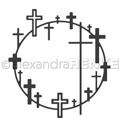 Alexandra Renke - Cutting Die - Cross wreath