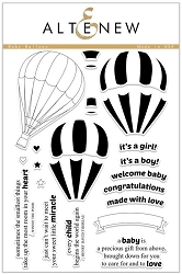 Altenew - Clear Stamps - Baby Balloon